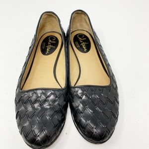 Cole Haan, Black Leather Flats Size 8.5 (270)